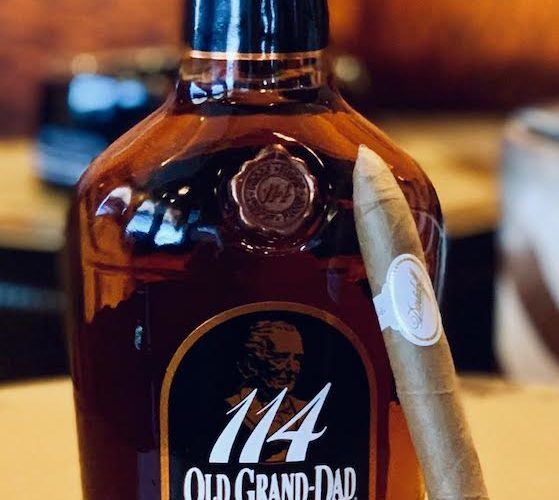 Old Granddad 114 bourbon and Davidoff Special B Cigar from the Eat! Drink! Smoke! podcast
