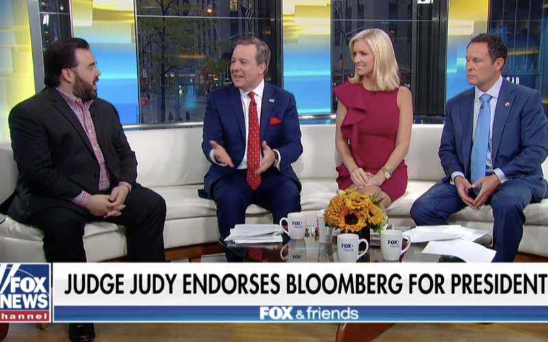 Tony Katz Speaks To FOX and Friends about Judge Judy Endorsing Mayor Mike Bloomberg
